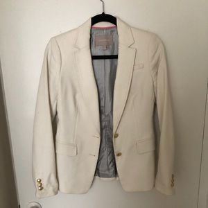Banana republic ivory blazer with gold button